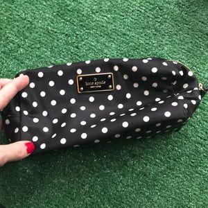 NWOT kate spade polka dot cosmetic bag pencil case